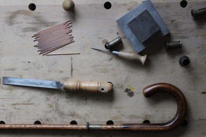 Lockwood. Oak stick. Workbench. Manufactory